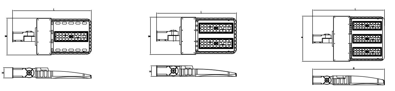 led shoebox size
